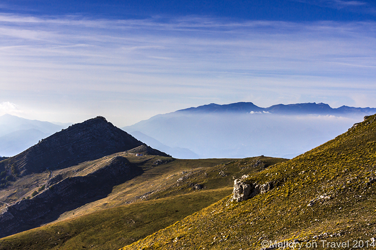 Low clouds in Molise, Italy, temperature inversions in the mountains near Isernia on Mallory on Travel adventure, adventure travel, photography Iain Mallory-300-8 molise_italy