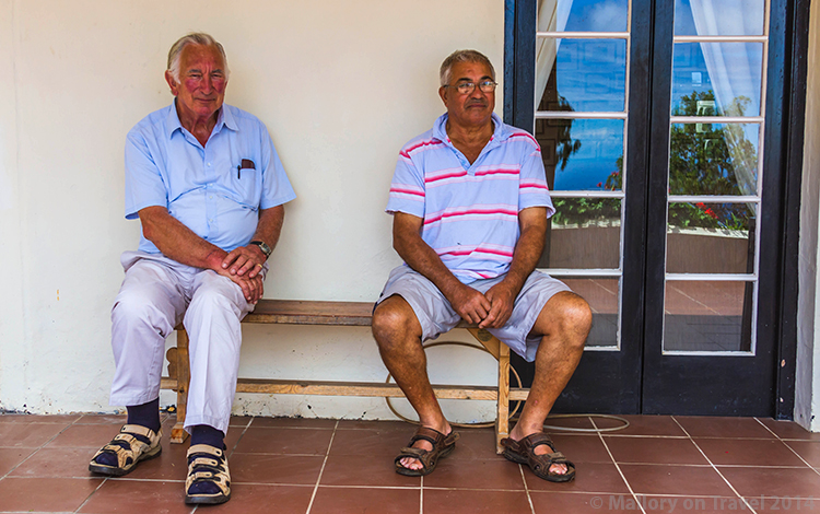 Two residents of St Helena at Princes Lodge in the South Atlantic on Mallory on Travel adventure, adventure travel, photography Iain Mallory-357 sthelena