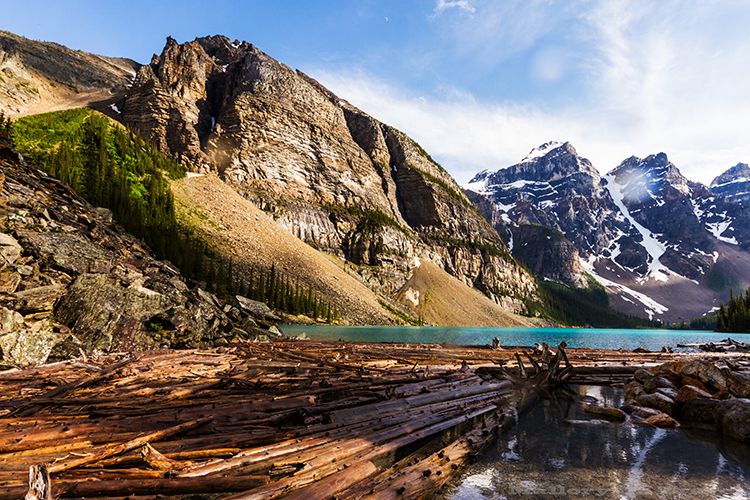 Moraine Lake in the Canadian Rockies of the Banff National Park, Alberta, Canada on Mallory on Travel adventure, adventure travel, photography Iain Mallory-233 moraine_lake