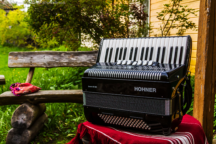 An accordion on the island of Kihnu, in the Baltic State of Estonia on Mallory on Travel adventure, adventure travel, photography Iain_Mallory_1402897 accordion