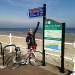 Alison Bailey on the coast to coast bike ride in the United Kingdom