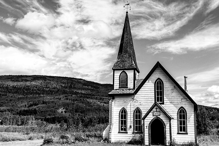 St Paul's Anglican Church in the Hazeltons, North Western British Columbia, Canada. Built by the Gitxsan Nation from the village of Kitwanga on Mallory on Travel adventure, adventure travel, photography Iain Mallory-54 stpauls_kitwanga