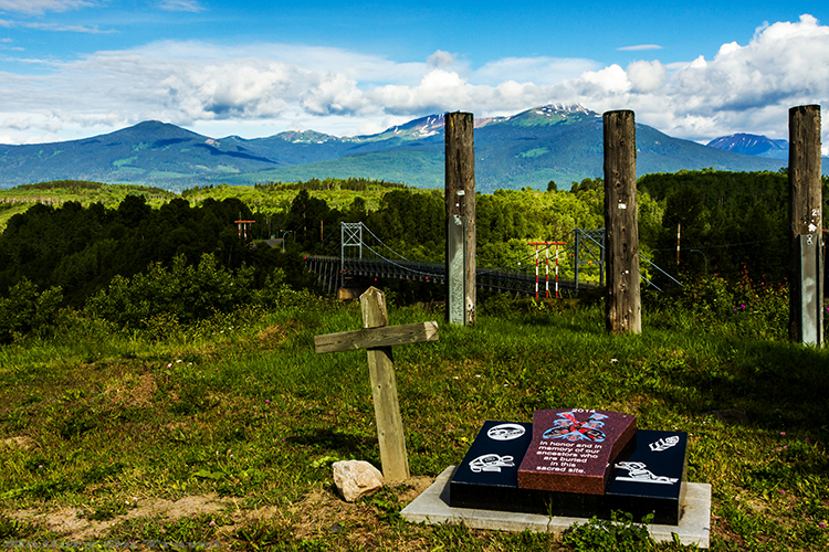 Sacred burial ground of the Gitxsan Nation, near the Ksan Historical Village, and Museum in British Columbia, Canada on Mallory on Travel adventure, adventure travel, photography Iain Mallory-8-2 gitxsan_burial