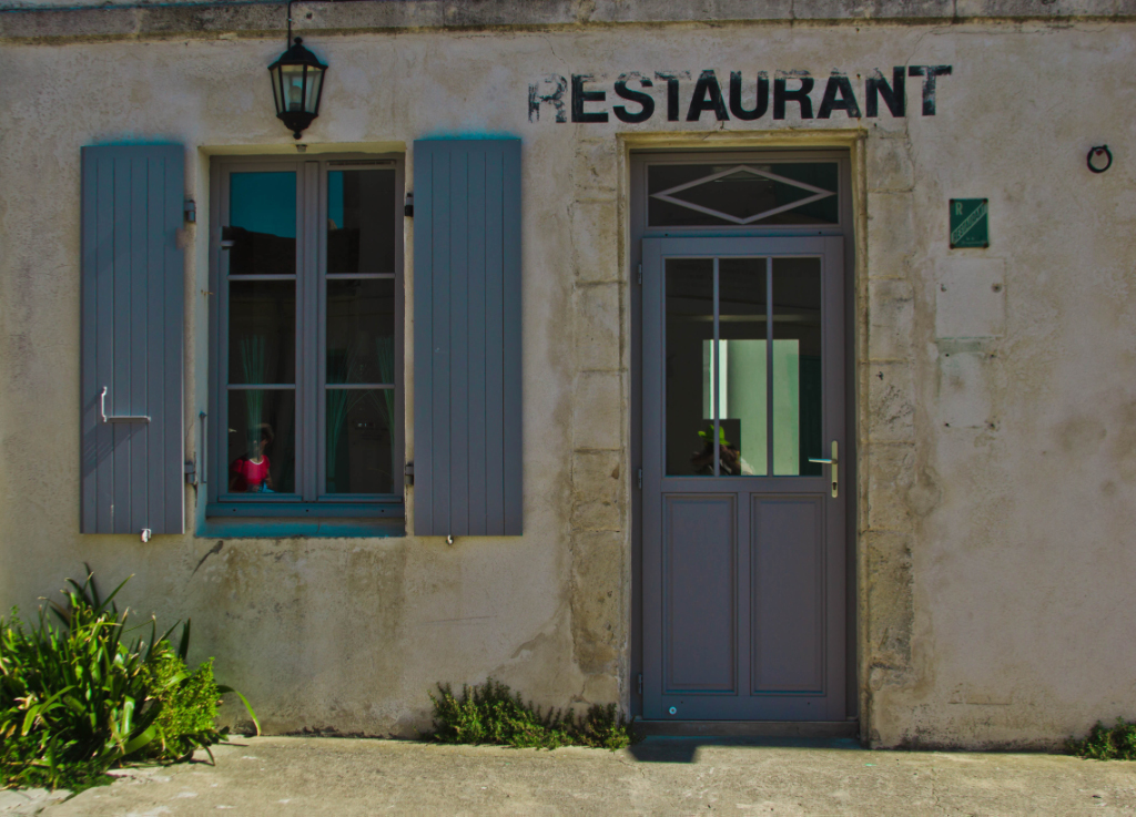 Budget travel; Old world style fine dining on Île-d'Aix in the Poitou-Charentes region of France on Mallory on Travel adventure photography Iain Mallory-300-35 (2)-1ile-d'aix
