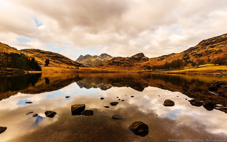Reflections in Blea Tarn in the Langdale area of the English Lake District in Cumbria on Mallory on Travel adventure, adventure travel, photography Iain_Mallory_Lakes1408288 blea_tarn