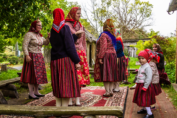 Destinations; Dancing women and children on matriarchal Kihnu Island in Estonia on Mallory on Travel adventure, adventure travel, photography Iain_Mallory_1402846
