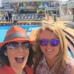 "Nasreen and friend on the /royal Caribbean ""Anthem of the Seas"" cruising from Southampton on Mallory on Travel adventure, adventure travel, photography"