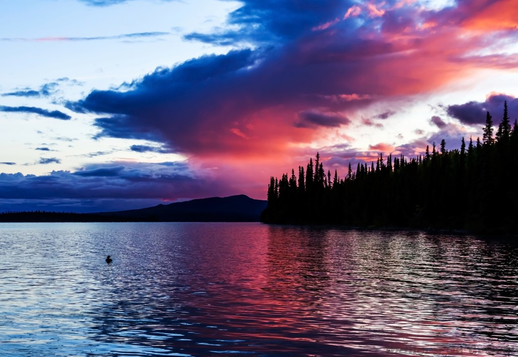 Sunset in the Canadian wilderness at Inconnu Lodge in the Yukon on Mallory on Travel adventure travel, photography, travel Iain Mallory-Yukon_2001-2