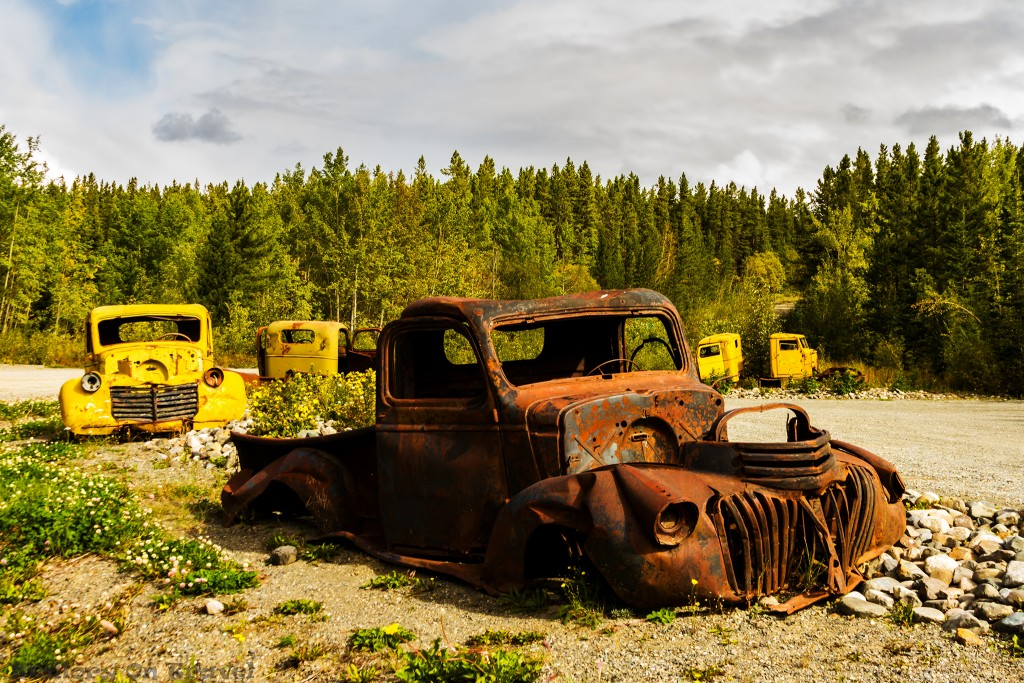 Discarded military vehicles at the start of the Canol Heritage Trail, The Yukon on Mallory on Travel adventure travel, photography, travel Iain Mallory-Yukon_2009