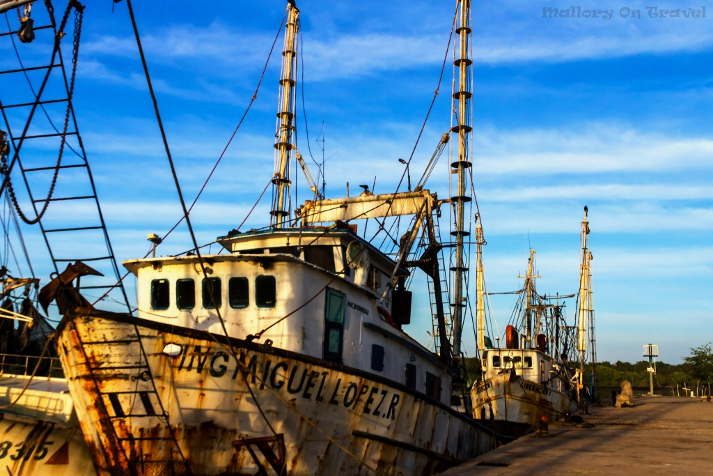 Sunrise over fishing boats in the harbour at San Blas north of Puerto Vallarta in the Riviera Nayarit of Mexico on Mallory on Travel adventure travel, photography, travel Iain_Mallory_Mex17319