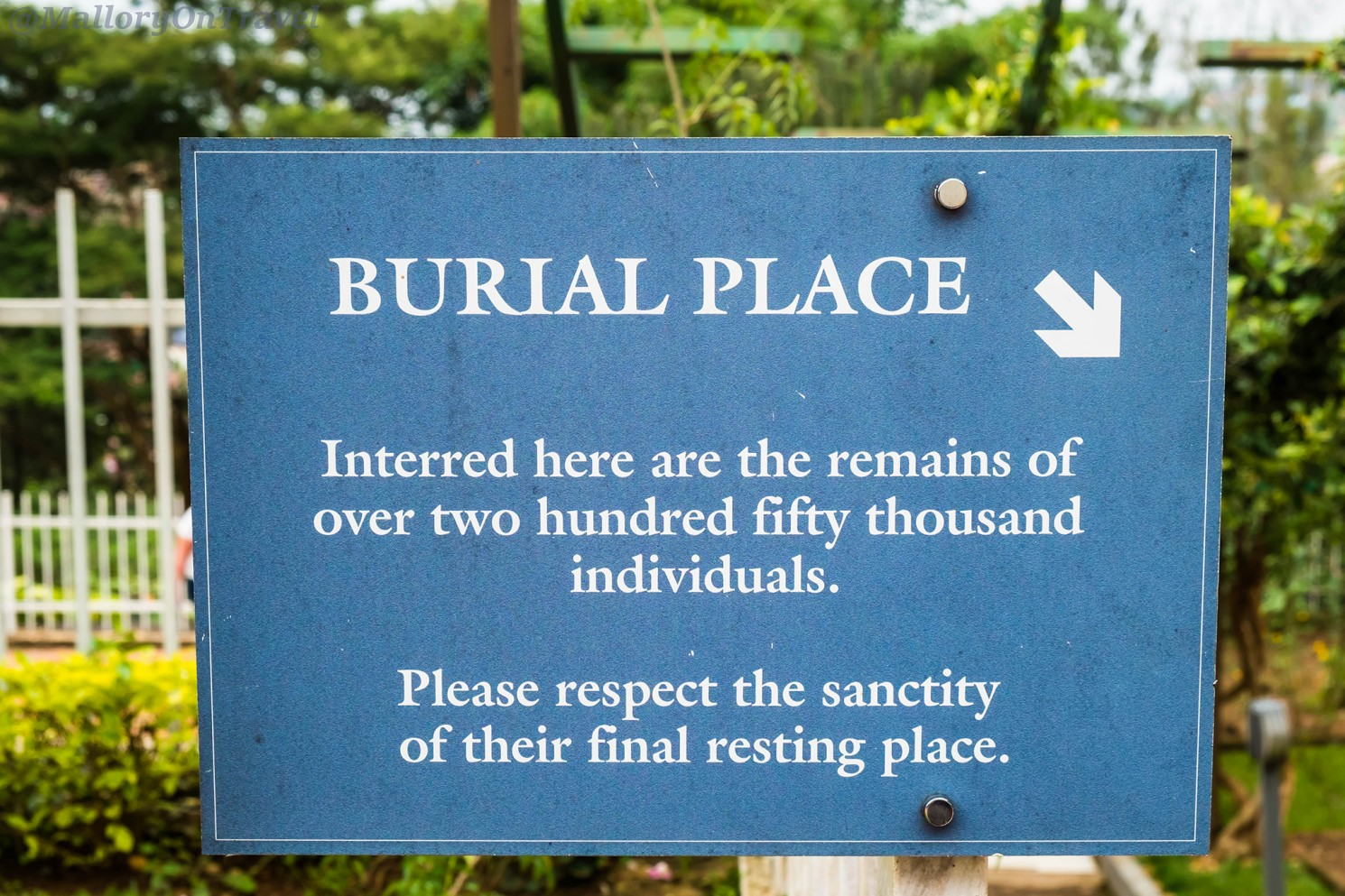 rwanda kigali genocide memorial mallory on travel a sign at the mass grave at kigali genocide memorial centre at rwanda in east africa