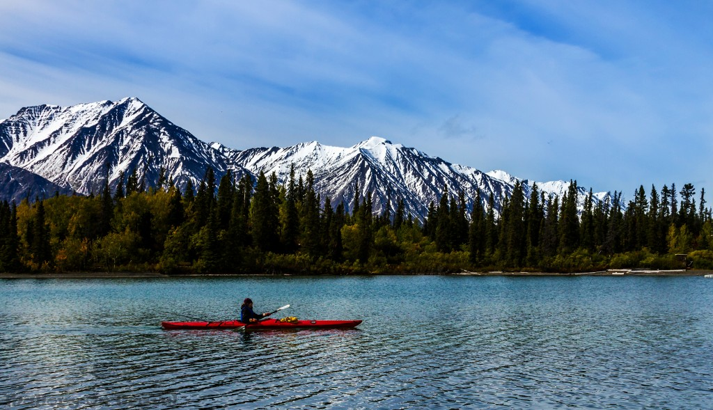 Kayaking on Kathleen Lake in Kluane National Park in The Yukon, Canada on Mallory on Travel adventure travel, photography, travel Iain_Mallory_Yukon1412634
