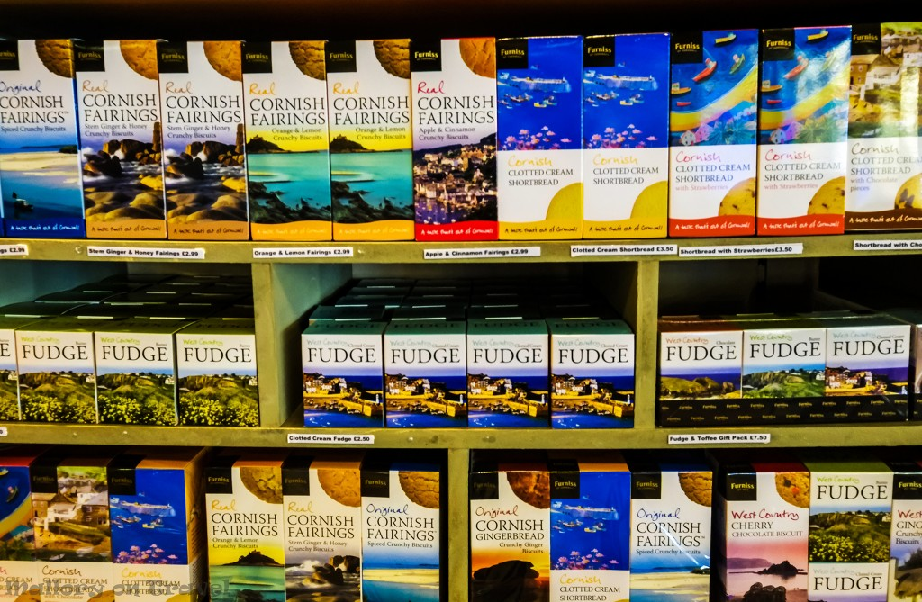 Clotted cream fudge and edible souvenirs in a Dorset shop, Dartmoor National Park on Mallory on Travel adventure travel, photography, travel Scilly Isles-138