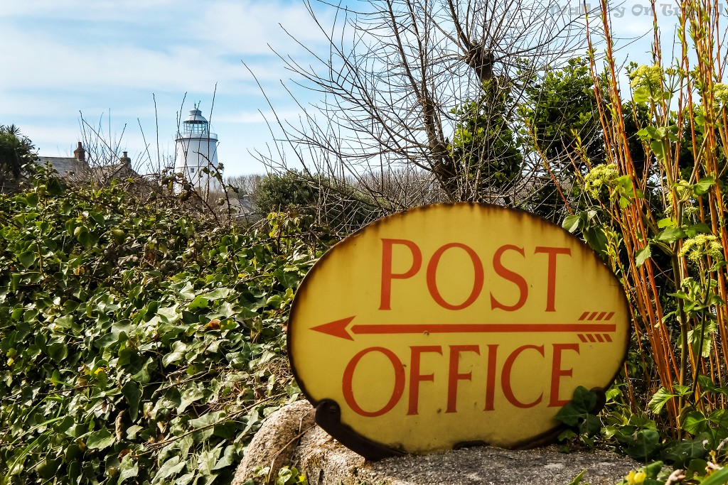 Post office and lighthouse on the island of St Agnes, in the Scilly Isles on Mallory on Travel adventure travel, photography, travel Scilly Isles-253