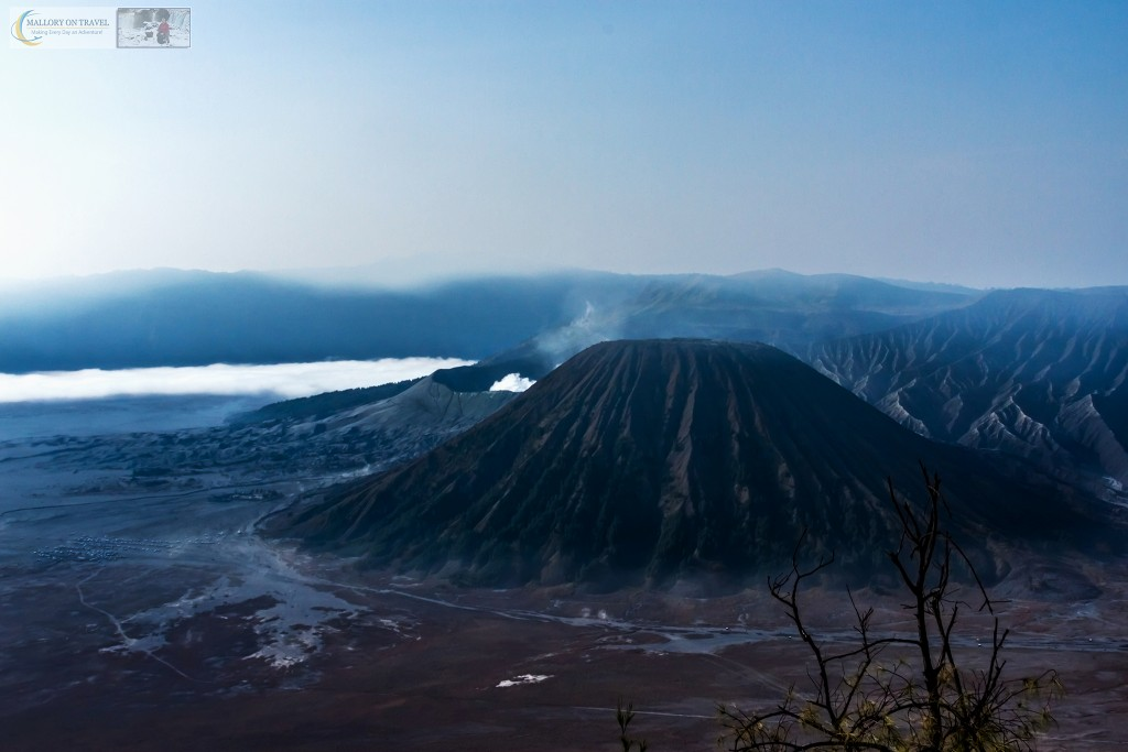 The steaming crater of Mount Bromo an active volcano rising from the Sea of Sand in the Tennger massif in East Java, Indonesia on Mallory on Travel adventure travel, photography, travel Iain_Mallory_Indo15638
