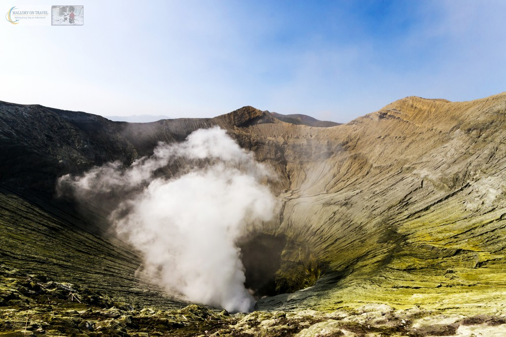 The steaming crater of Mount Bromo an active volcano rising from the Sea of Sand in the Tennger massif in East Java, Indonesia on Mallory on Travel adventure travel, photography, travel Iain_Mallory_Indo15668