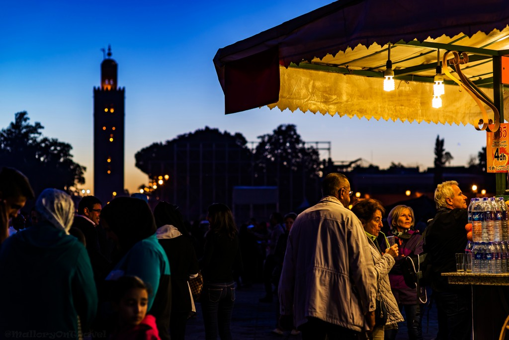 The Koutoubia Mosque at the Djemaa-el-Fna at sunset in the Medina of Marrakech, Morocco in North Africa on Mallory on Travel adventure travel, photography, travel Iain_Mallory_Mor15779