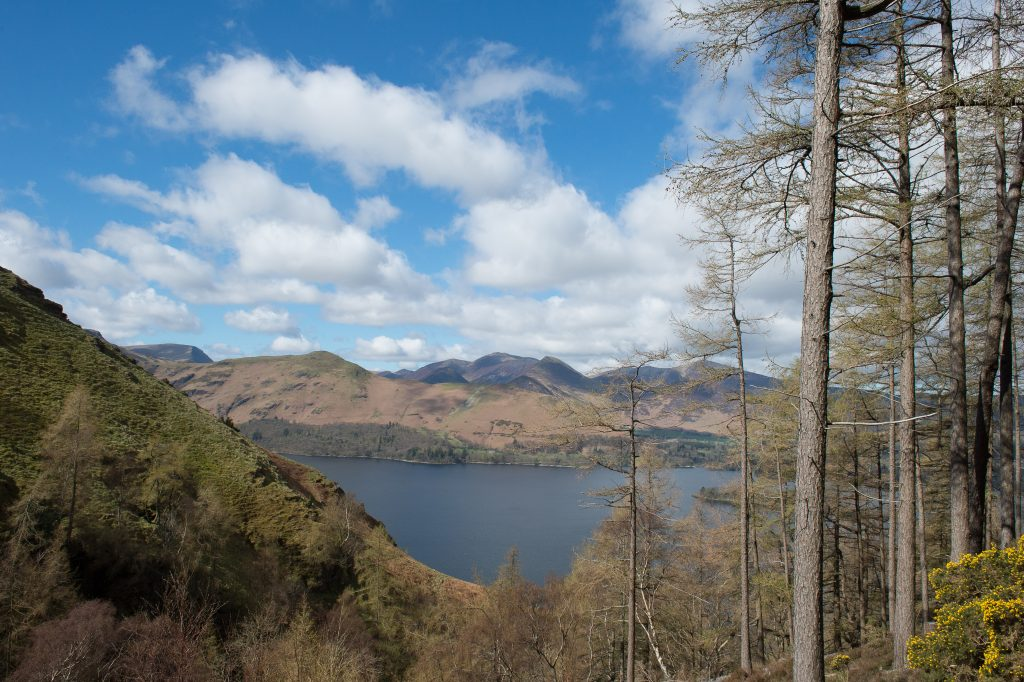 View across Derwentwater to Catbells in the Lakeland fells of the Lake District, Cumbria on Mallory on Travel adventure travel, photography, travel Lakeland-8