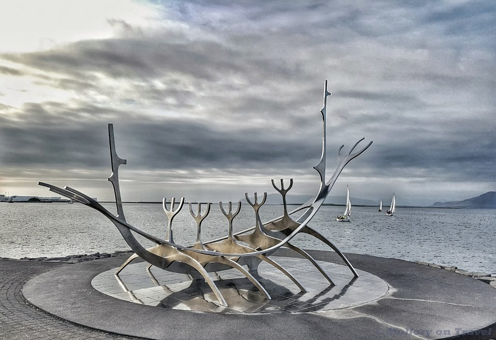 Lost Luggage Challenge; the Sun Voyager or Sólfar, viking ship sculpture in Reykjavik, the capital city of Iceland on Mallory on Travel adventure travel, photography, travel Iain Mallory_Iceland0071-01