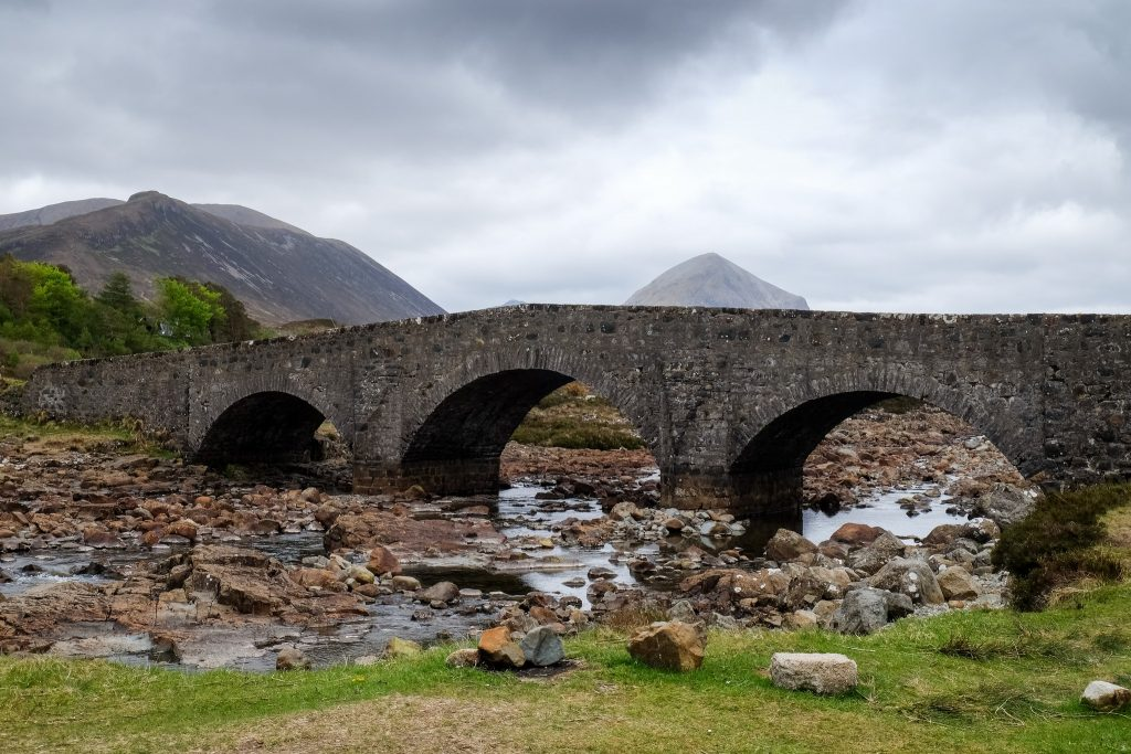 Sligachan Bridge on the Isle of Skye, in the highlands and islands on the west coast of Scotland on Mallory on Travel adventure travel, photography, travel Iain Mallory_Scotland3780