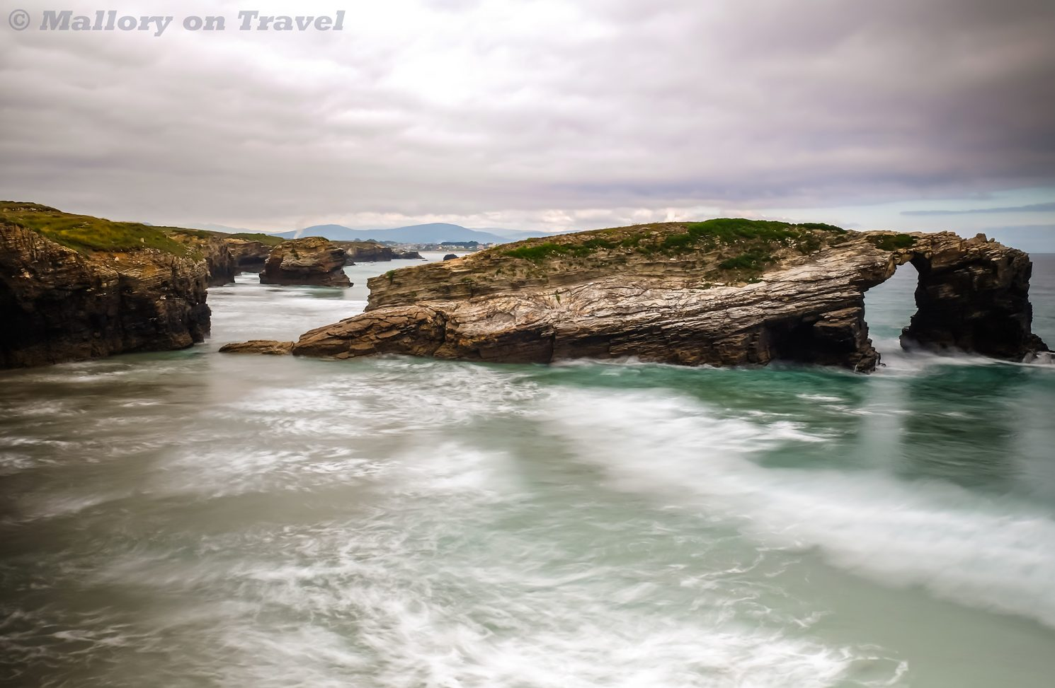 Beach of the Cathedrals, known as Beach of the Holy Waters in Galicia on the north west Atlantic coast of Spain on Mallory on Travel adventure travel, photography, travel Iain Mallory_Galicia7684