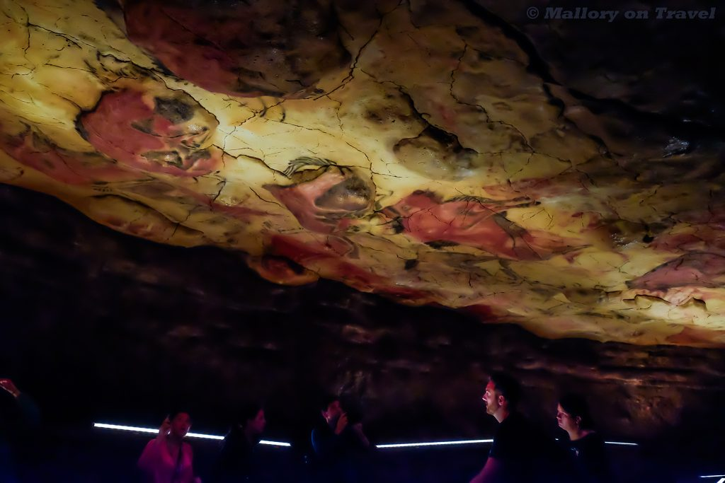 Polychrome rock art on the ceiling at the World Heritage Site at Altamira Cave in Cantabria, northern Spain on Mallory on Travel adventure travel, photography, travel Iain Mallory_Spain6890