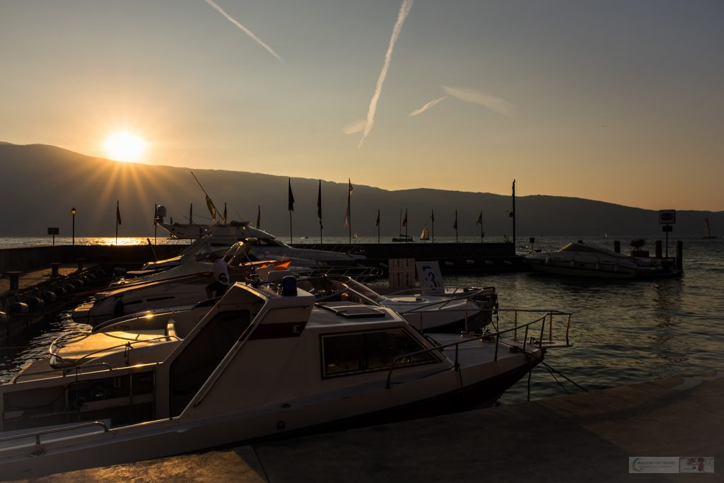 Sunrise hits the marina at Salo on the Gardone Riviera, Lake Garda in Lombardia, Italy on Mallory on Travel adventure travel, photography, travel iain-mallory_garda-1-17