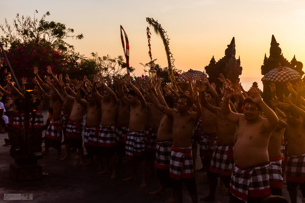 The start of the Kecak Fire Dance Performance at Uluwatu Temple in Bali, Indonesia on Mallory on Travel adventure travel, photography, travel iain-mallory_indo-001-2