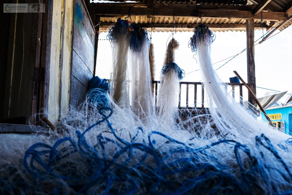 Fishing nets in the Bajo people village, Pulau Hoga in Wakatobi, Indonesia on Mallory on Travel adventure travel, photography, travel iain-mallory_indo1547