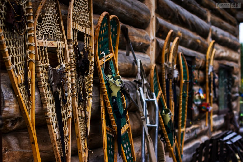 Snowshoes at the lodge of Cathers Wilderness Adventures on Lake Laberge, near Whitehorse capital city of The Yukon in Canada on Mallory on Travel adventure travel, photography, travel iain-mallory_yukon-001 snowshoes