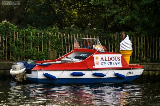 Mobile ice cream salesman in the Norfolk Broads National Park, east England in the United Kingdom on Mallory on Travel adventure travel, photography, travel iain-mallory_norfolk-049