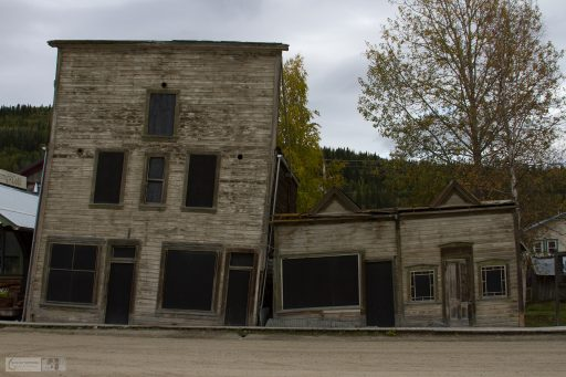 Permafrost damage store in Dawson City in the frontier town of the Klondike Gold Rush, in The Yukon, Canada on Mallory on Travel adventure travel, photography, travel iain-mallory_yukon-111