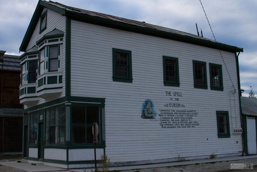 House in Dawson City, with the poem Spell of the Yukon written on the side, Canada on Mallory on Travel adventure travel, photography, travel iain-mallory_yukon-118