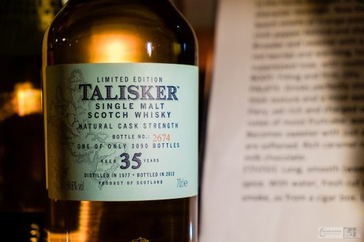 Talisker whisky at the distillery in the town of Carbost, on the shores of Loch Harport, Isle of Skye in the Scottish highlands and islands on Mallory on Travel adventure travel, photography, travel iain_mallory_scotland-3828