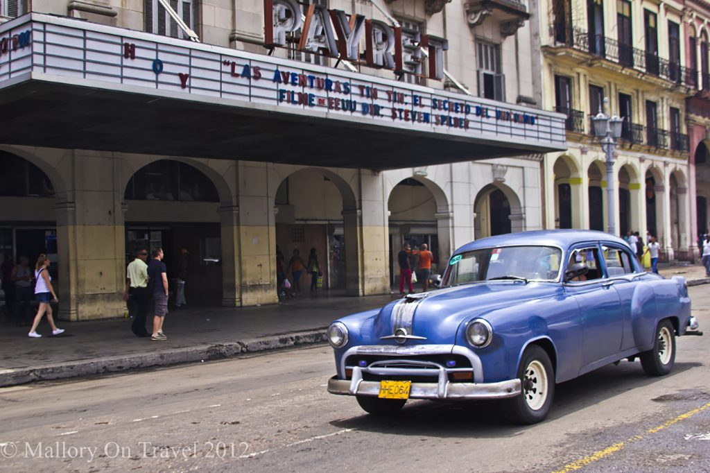 Travel inspiration; A classic car or carcharros on the streets of the Cuban capital city, Havana on Mallory on Travel adventure travel, photography, travel iain-mallory-300-140