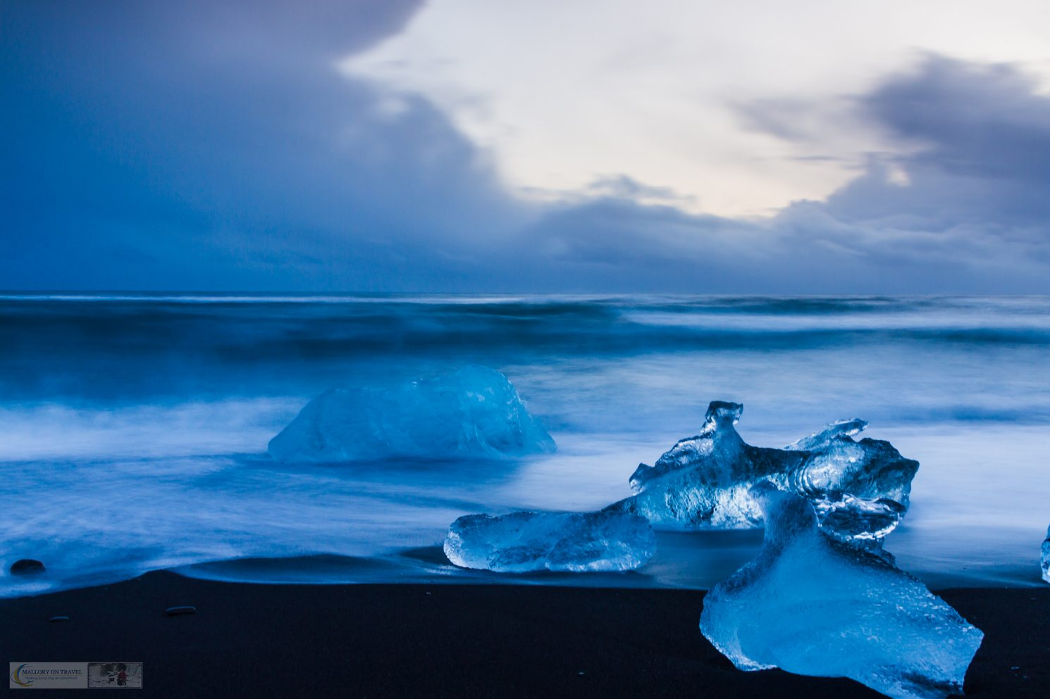 Icebergs on the beach at the ice lagoon, Jökulsárlón in the east of Iceland on Mallory on Travel adventure travel, photography, travel Iain Mallory-300-24