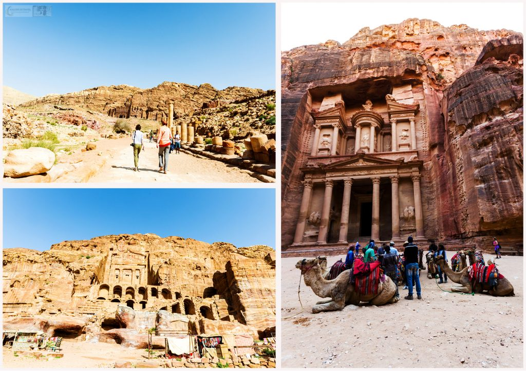 Petra, the red-rose city of Jordan on Mallory on Travel adventure travel, photography, travel Iain Mallory Jordan Montage1