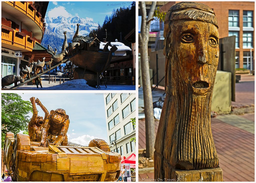 Street art sculptures from the Italian sud-tirol, Johannesburg, South Africa and Montreal, Canada on Mallory on Travel adventure travel, photography, travel Iain Mallory Montage-10
