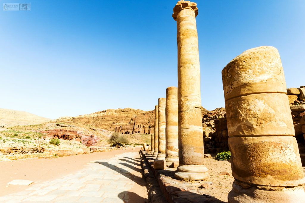 The Roman Highway in the red-rose city, Petra in south Jordan on Mallory on Travel adventure travel, photography, travel Iain Mallory_Jordan 001-17