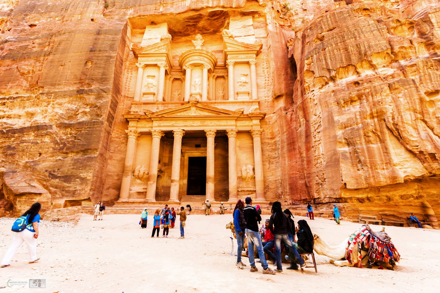 The sandstone Treasury in the Nabateaen city of Petra in south Jordan on Mallory on Travel adventure travel, photography, travel Iain Mallory_Jordan 001-8