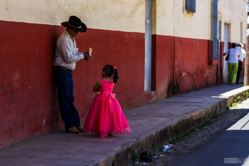 Father and daughter in Sunday best in the Nayarit town of San Blas on the Mexican Pacific coast on Mallory on Travel adventure travel, photography, travel Iain Mallory_Mex 001-74