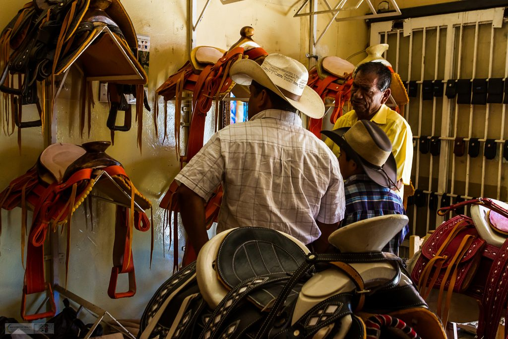 A father and son browsing a saddlery in San Blas on the Riviera Nayarit, on the Pacific coast of Mexico on Mallory on Travel adventure travel, photography, travel Iain Mallory_Mex 001-76