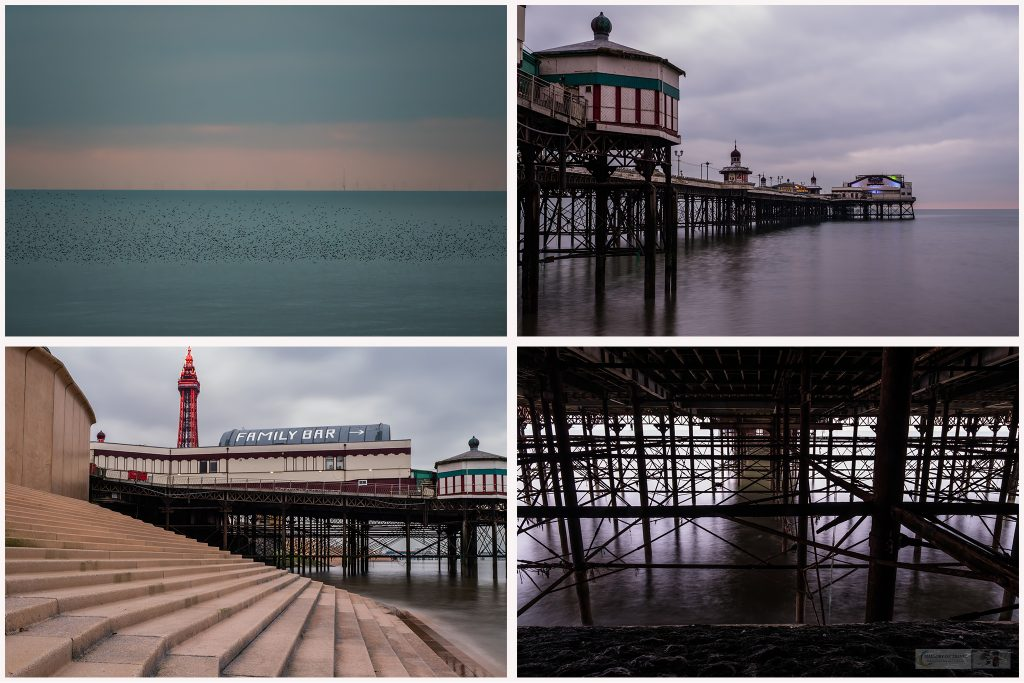 Views around the North Pier murmuration at the Fylde Coast resort of Blackpool, Lancashire on Mallory on Travel adventure travel, photography, travel Iain Mallory_Montage1