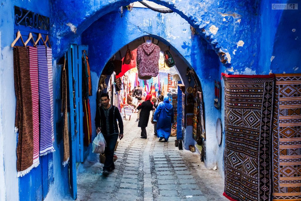 The medina of Chefchaouen, the blue city in the Rif Mountains of Morocco in North Africa on Mallory on Travel adventure travel, photography, travel Iain Mallory_Morocco 007