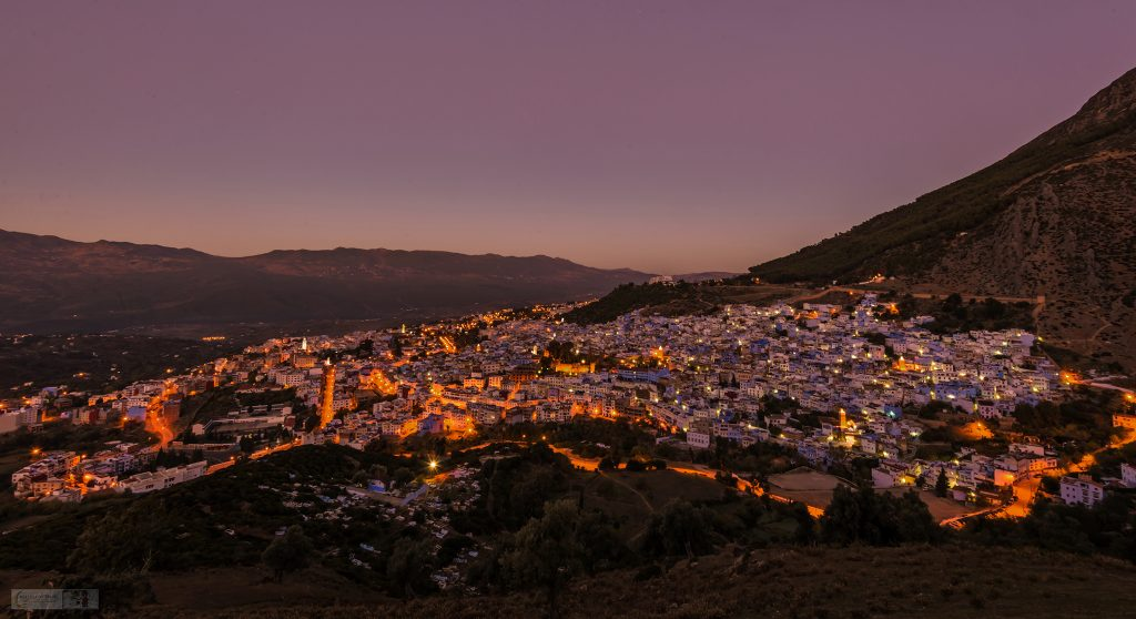 Sunrise over the Blue City, early morning in Chefchaouen and the Rif Mountains of Morocco in north Africa on Mallory on Travel adventure travel, photography, travel Iain Mallory_Morocco 070