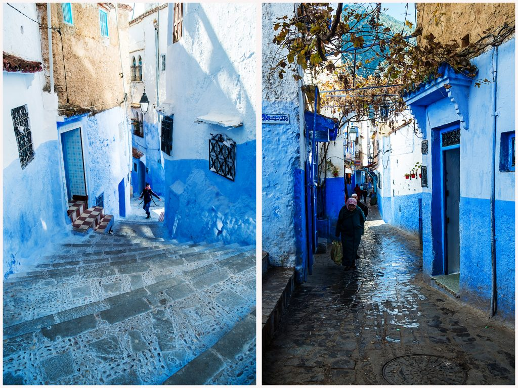 The streets of Chefchaouen, the Blue City of Morocco in the northern Rif Mountains on Mallory on Travel adventure travel, photography, travel Iain Mallory_Morocco 081a