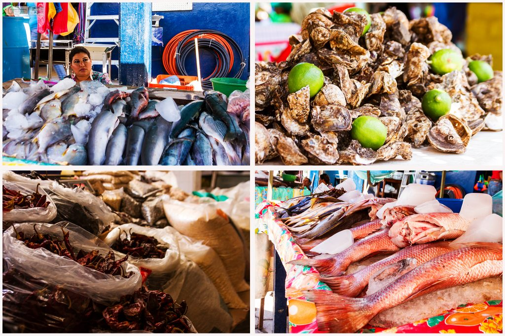 Market stalls in the town of San Blas on the Riviera Nayarit, the Pacific coast of Mexico on Mallory on Travel adventure travel, photography, travel Iain_Mallory_MexMontage2
