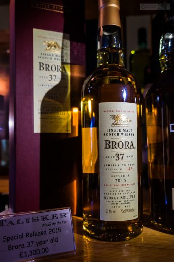 37-year-old Brora single malt whisky from the Talisker distillery in Carbost on the Isle of Skye on Scotland's west coast on Mallory on Travel adventure travel, photography, travel Iain Mallory_Scotland 001-5