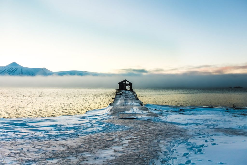 Rolling mist over the Isfjorden at Colebukta, a Russian ghost town known as Coles Bay on Spitzbergen in the Svalbard archipelago of Norway on Mallory on Travel adventure travel, photography, travel Iain Mallory_Svalbard-1-62
