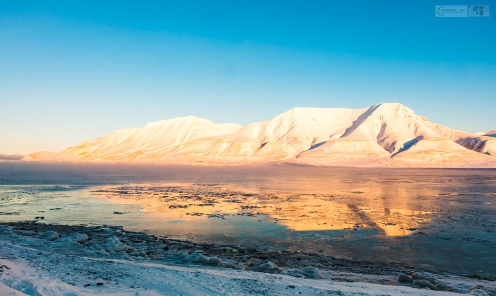 The Adventfjorden and Hiortfjellet Mountain looking across from Longyearbyen in the Svalbard archipelago in Arctic Norway on Mallory on Travel adventure travel, photography, travel Iain Mallory_Svalbard-1-80